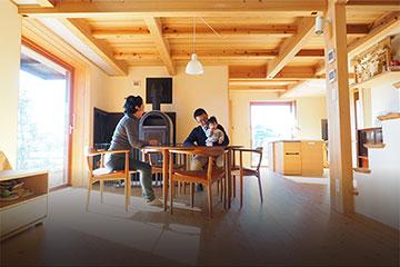 富士市、OMソーラーの注文住宅、木の家